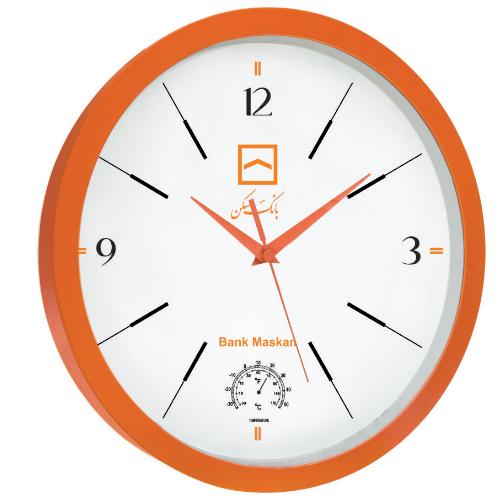 ساعت دیواری کد 5157D| دیدار هدیه ایرانیان | هدیه تبلیغاتی در مشهد | مدل گرد کلاسیک با دما سنج| تنوع در رنگ |