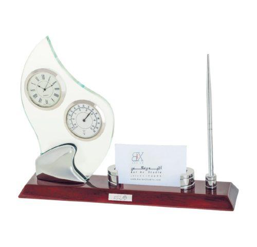 ساعت رومیزی کد 5565| دیدار هدیه ایرانیان | هدیه تبلیغاتی در مشهد | همواره در مقابل دیدگان|ساعت رومیزی مدیریتی چوبی و کریستالی|دماسنج،جا خودکاری،خودکار|