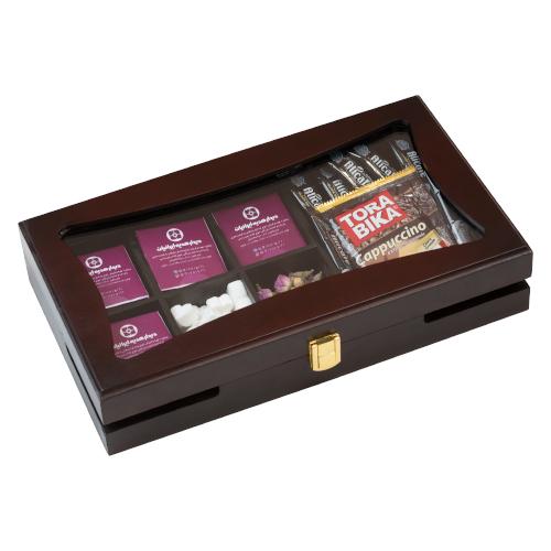 جعبه نفیس کد DGB 102|دیدار هدیه ایرانیان|هدیه تبلیغاتی در مشهد|جعبه چوبی نفیس |چای زعفران زنجبیل دارچین |